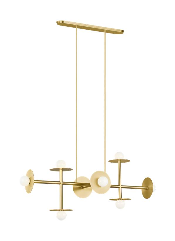 Nodes Large Linear Chandelier