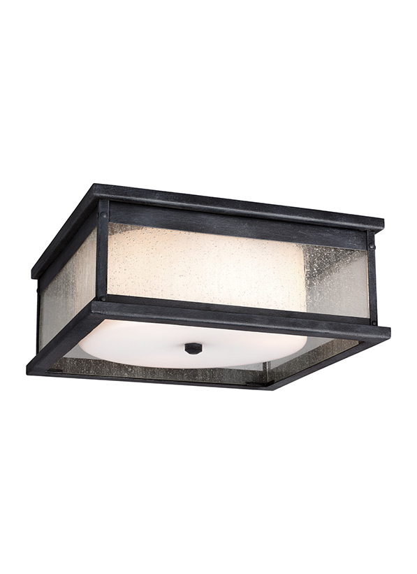 Pediment 3 - Light Outdoor Flush