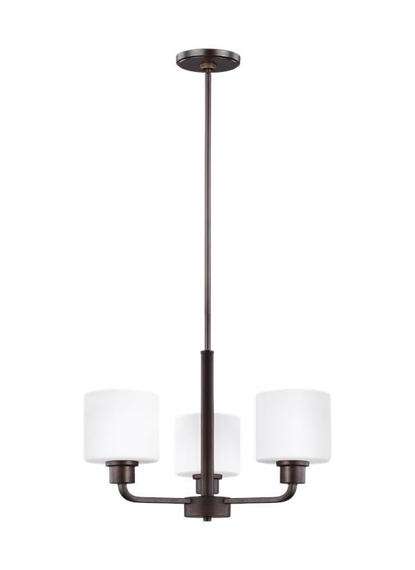 Canfield Three Light Chandelier