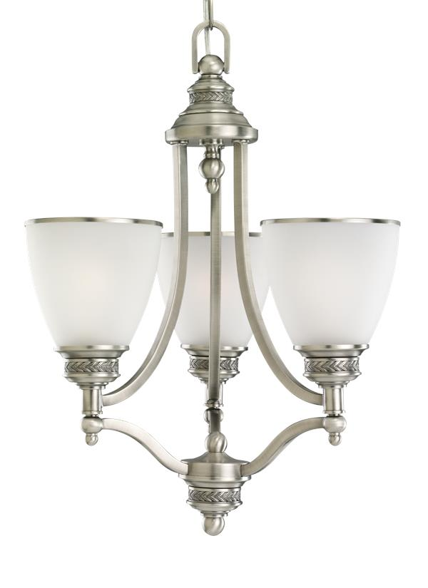 Laurel Leaf Three Light Chandelier