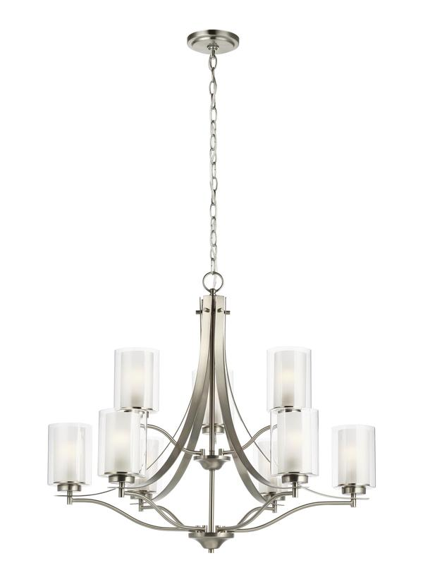 Elmwood Park Nine Light Chandelier