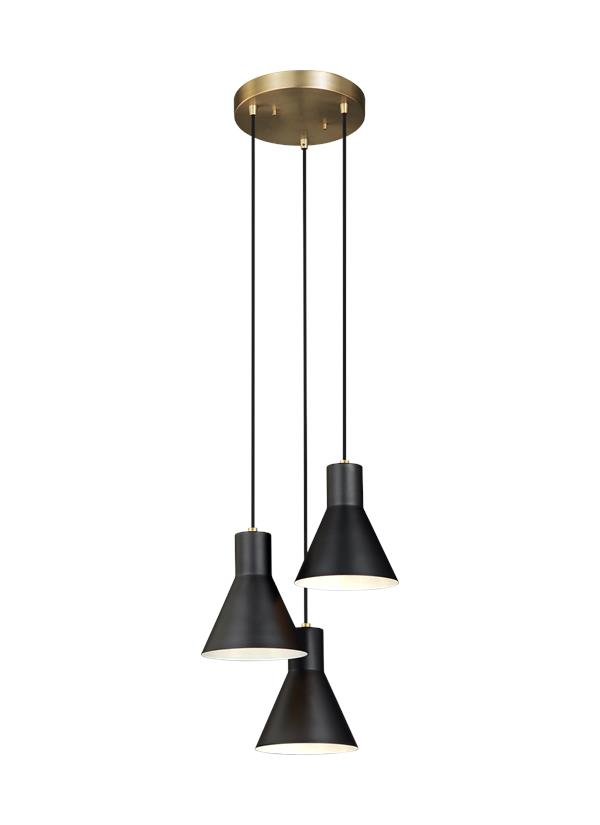 Towner Three Light Cluster Pendant
