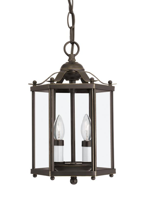 Bretton Two Light Semi-Flush Convertible Pendant