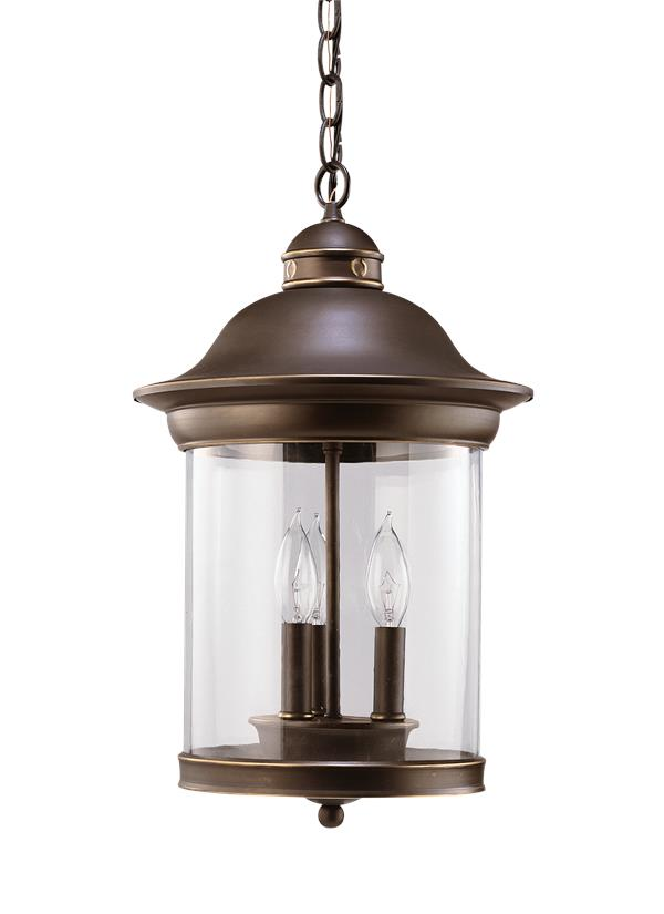 Hermitage Three Light Outdoor Pendant