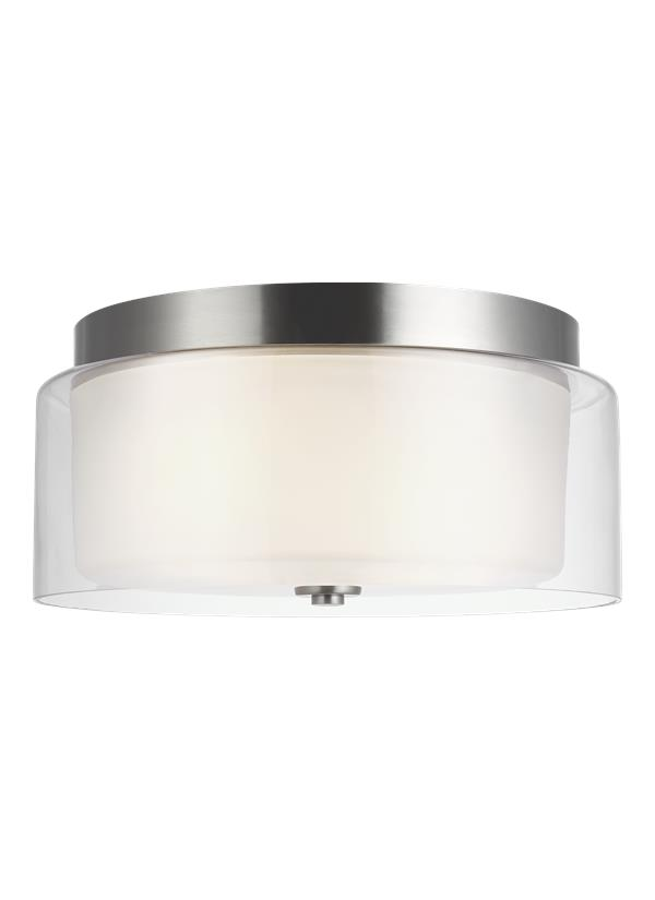 Elmwood Park Two Light Flush Mount