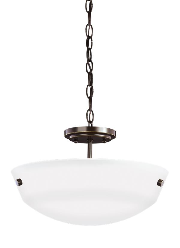Kerrville Two Light Semi-Flush Convertible Pendant
