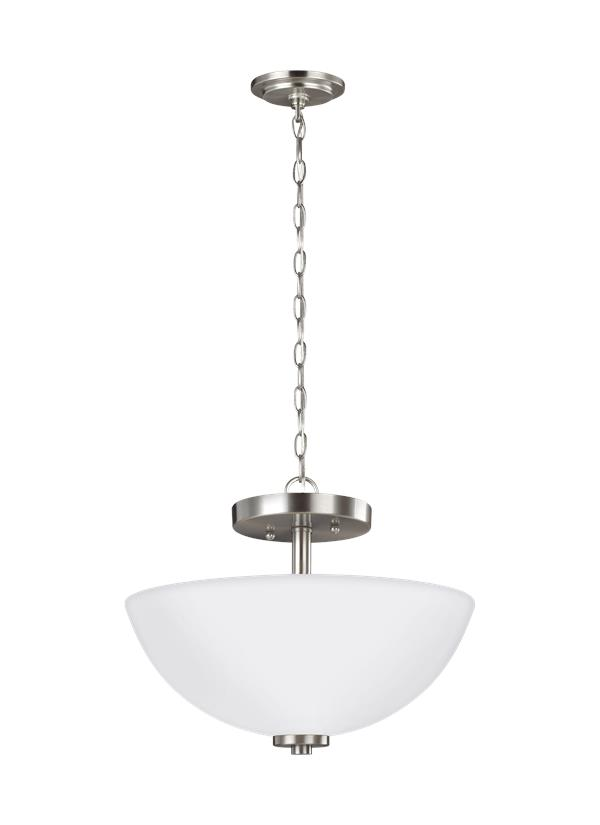 Oslo Two Light Semi-Flush Convertible Pendant
