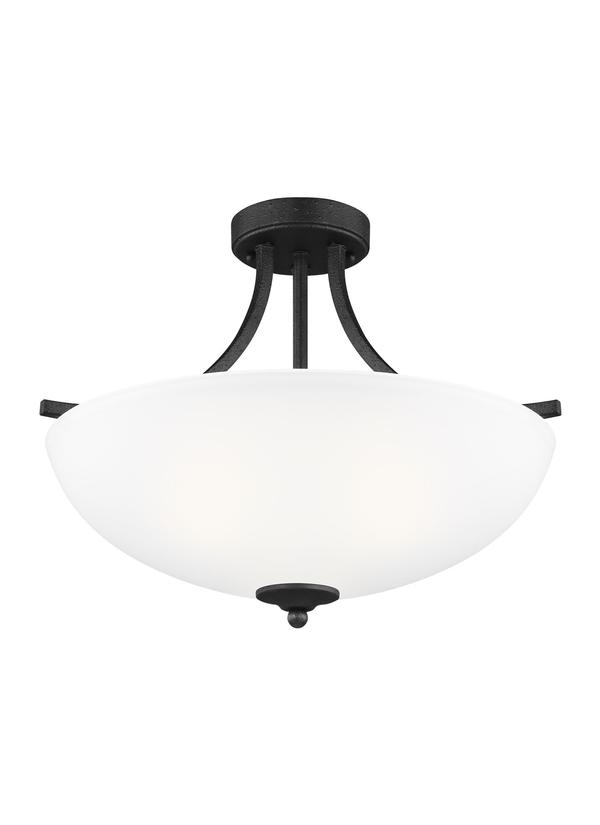 Geary Medium Three Light Semi-Flush Convertible Pendant