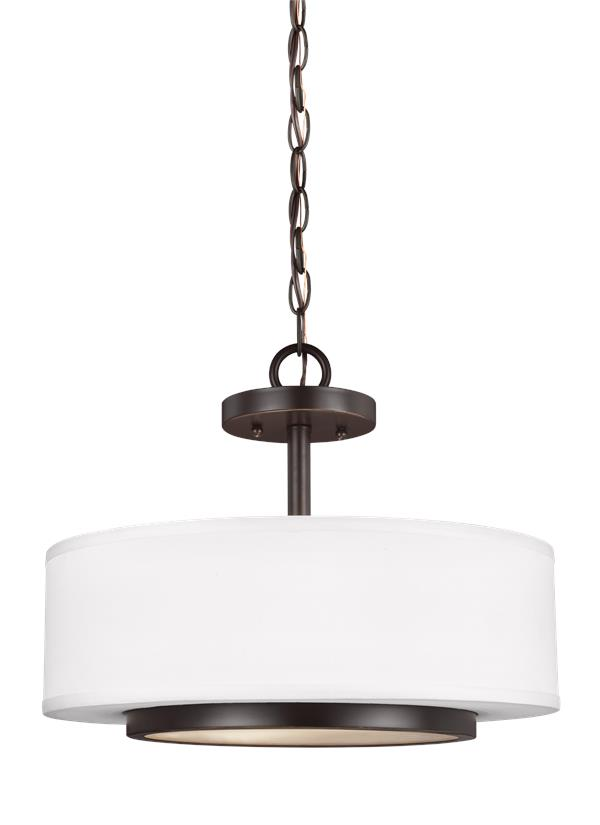 Nance Two Light Semi-Flush Convertible Pendant