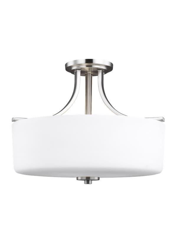 Canfield Three Light Semi-Flush Mount