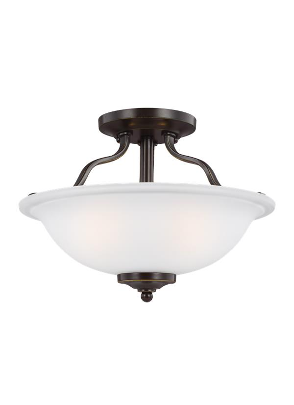 Emmons Two Light Semi-Flush