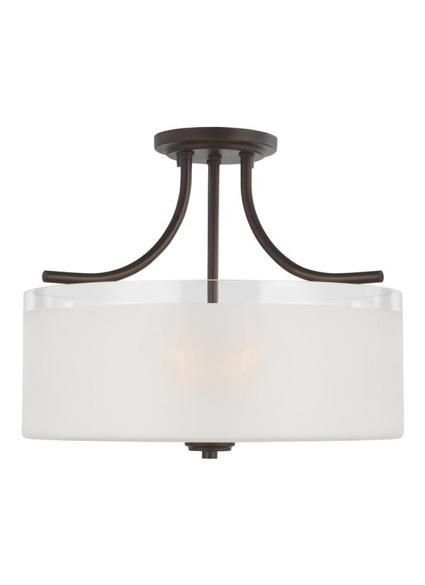 Norwood Three Light Semi-Flush Mount
