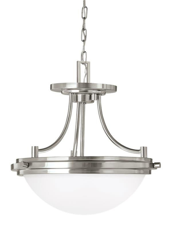 Winnetka Two Light Semi-Flush Convertible Pendant