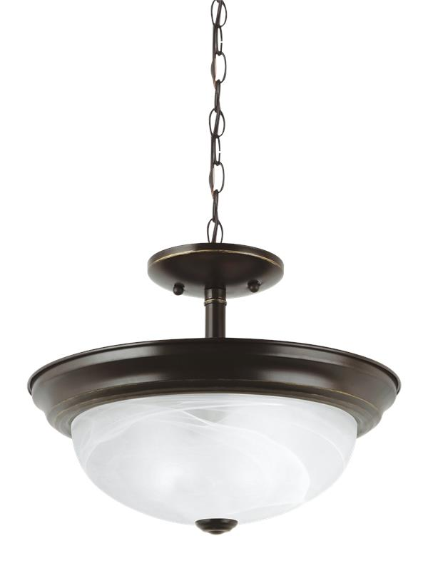 Windgate Two Light Semi-Flush Convertible Pendant