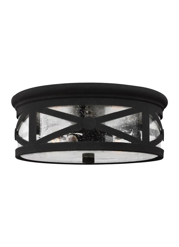 Lakeview Two Light Outdoor Flush Mount