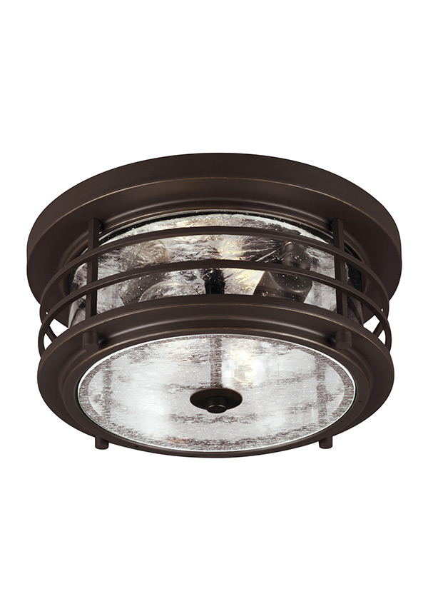 Sauganash Two Light Outdoor Flush Mount