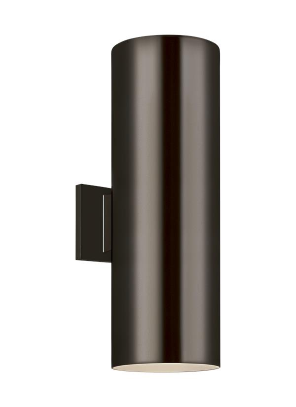 Outdoor Cylinders Large Two Light Outdoor Wall Lantern