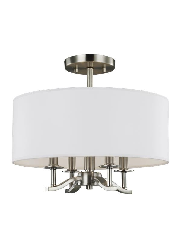 Hewitt Four Light Semi Flush Mount